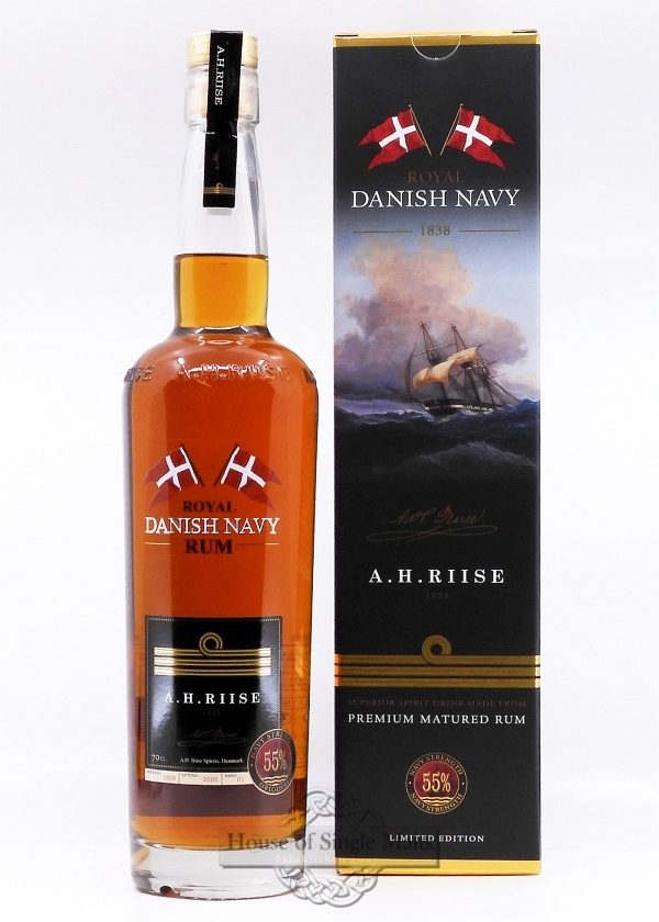 A.H. Riise Roayal Danish Navy Rum (55%)
