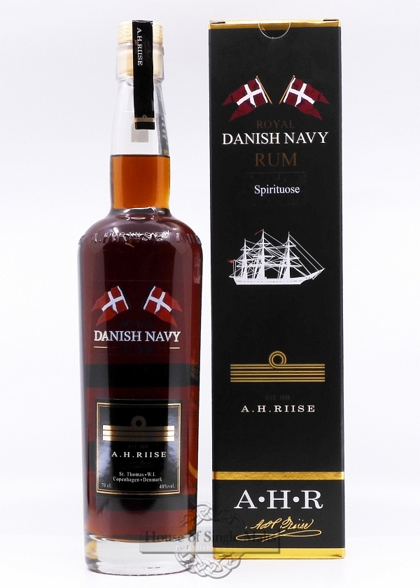 A.H. Riise Royal Danish Navy Rum (40%)