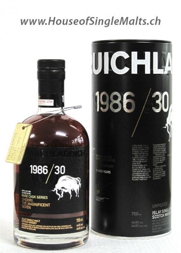 Bruichladdich Rare Casks Series 1986