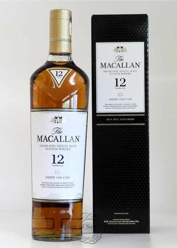 Macallan 12 Years (Sherry Oak Casks) Neue Flaschenform!