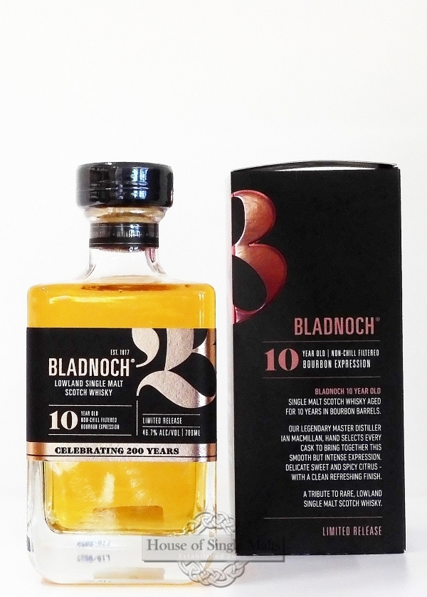 Bladnoch 10 Years Bourbon Expression
