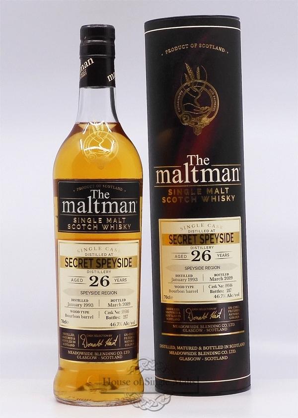 Secret Speyside 26 Years - The Maltman