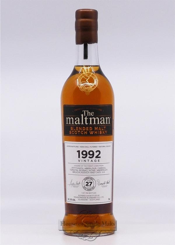 Vintage Blended Malt 1992 - The Maltman
