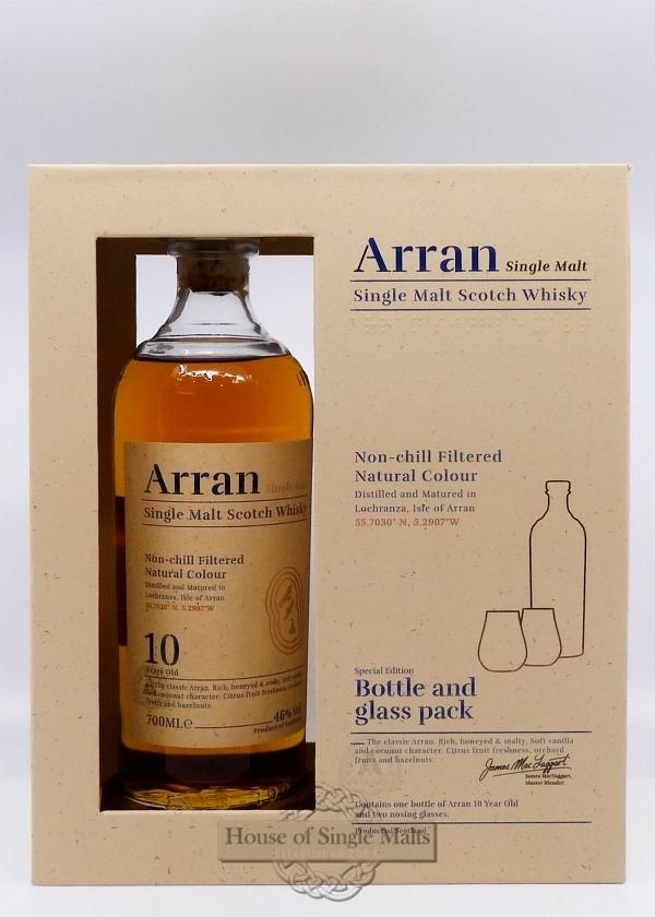 Arran 10 Years - Neue Version (Geschenkpackung mit 2 Gläser)