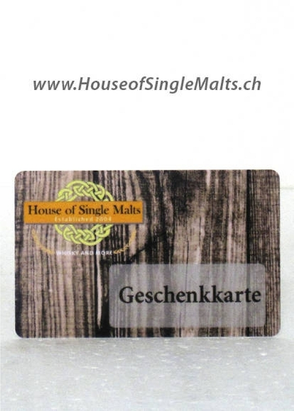 Geschenk-Karte / Gutschein House of Single Malts