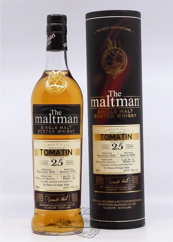 Tomatin 25 Years Moscatel Finish - The Maltman