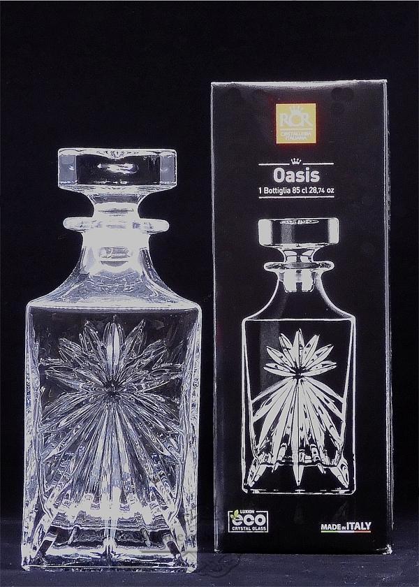 "Whisky-Karaffe ""Oasis"" aus Kristallglas (Stern/Sonne Muster)"