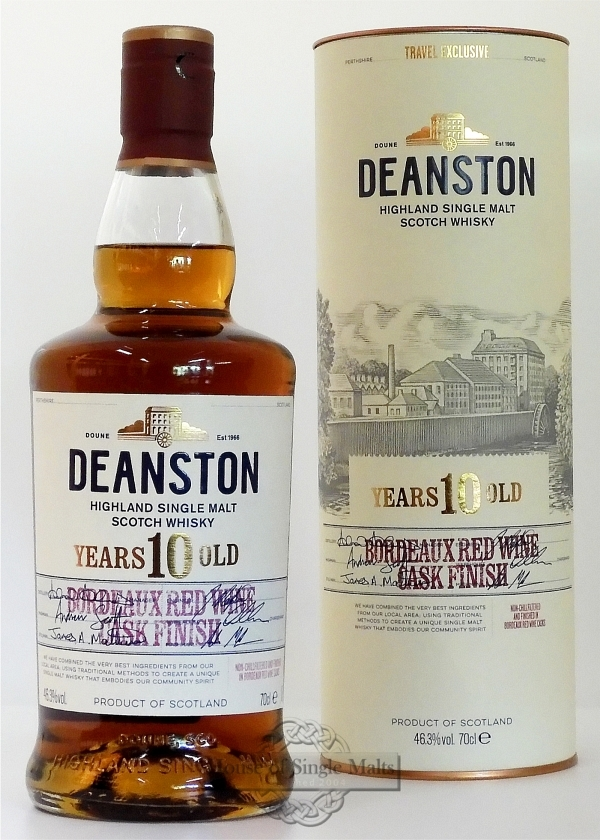 Deanston 10 Years Bordeaux Finish