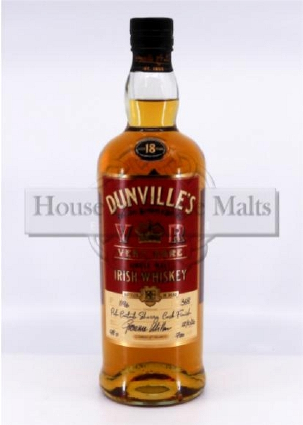 Dunville's 18 Years VR - Cask No. 1196