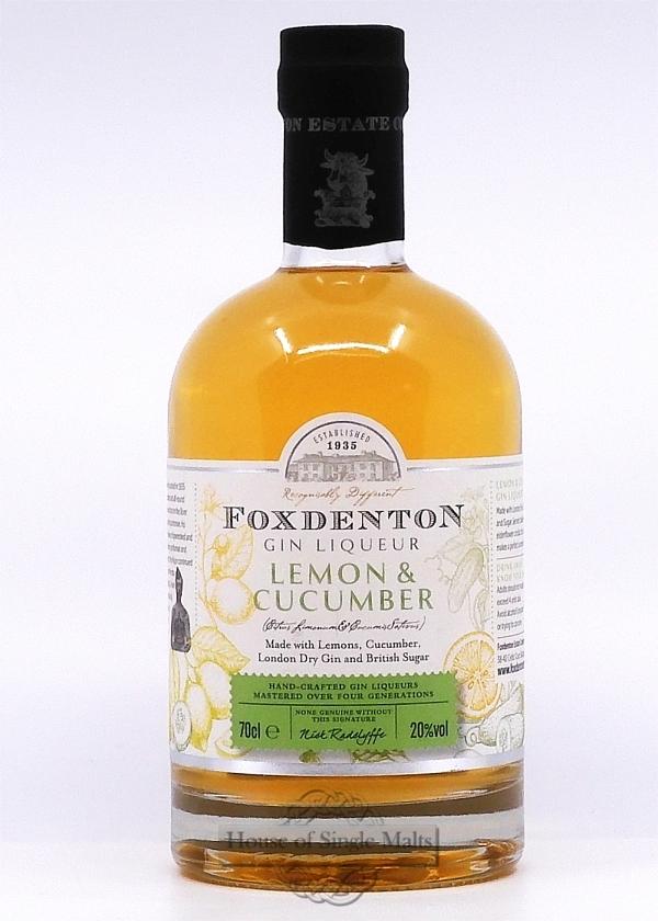 Foxdenton Gin Liqueur - Lemon & Cucumber